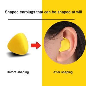 Image 2 - Moldable Shaped 60pcs/set PU Anti noise Ear Plugs Noise Reduction Sleeping Guard Soft Anti Snoring Health Care Sleep Aid Earplug