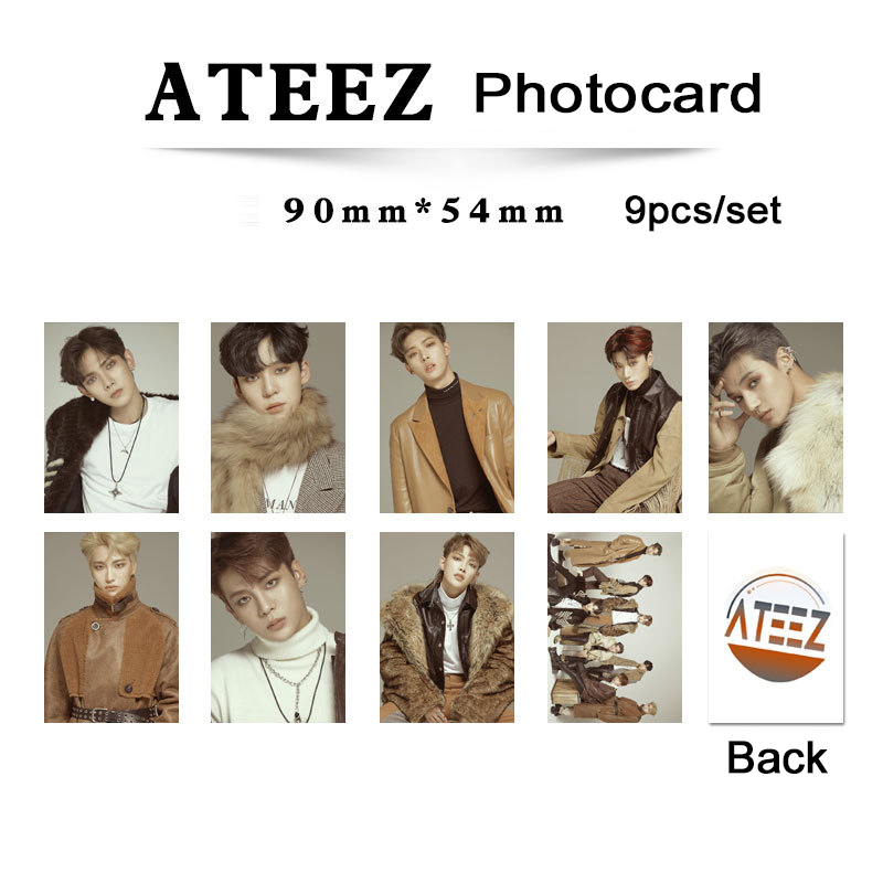 Kpop Ateez Album Photocard Set Self Made Double Side High Definition Picture K-pop Ateez Album Photo Card Poster New Arrivals