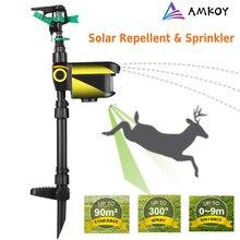 Movimento movido a energia solar ativado poderoso eco-friendly jato spray repelente de controle de pragas repelente animal pulverizador automático jardim