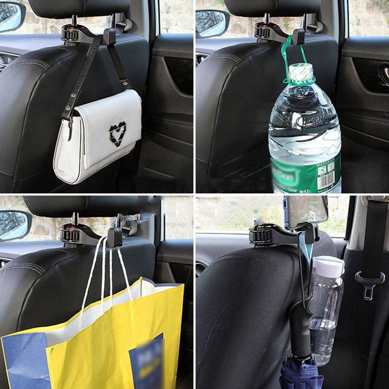 Multifunctional Car Hook Bracket and Cell Phone Holder