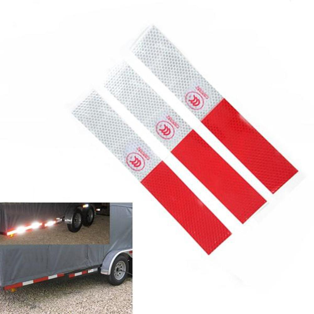 10x Warning Safety Plate Car Plastic Reflective Tape Sticker Self-adhesive Red