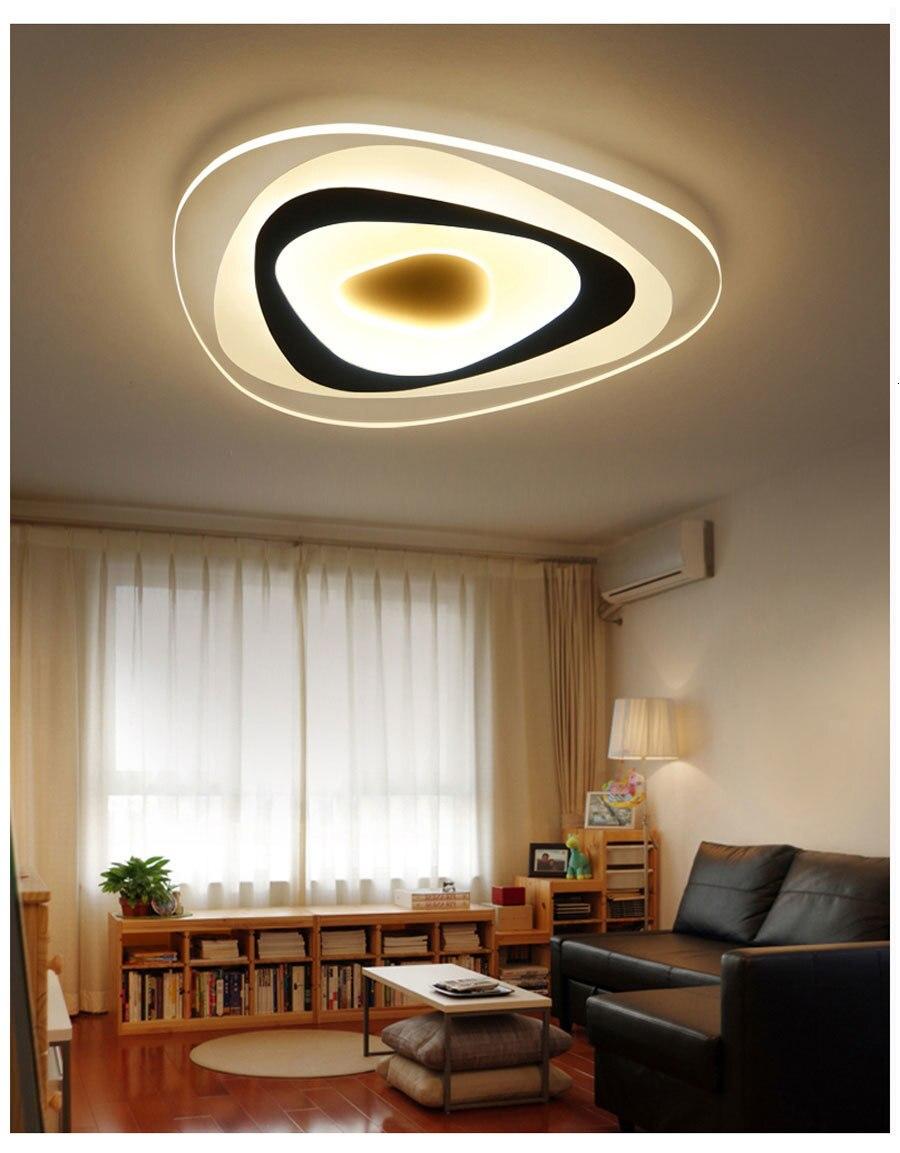 Ha113ce8c104a41fa96c5ec17f70a0ff4w Ultrathin Triangle Ceiling Lights lamps for living room bedroom lustres de sala home Dec LED Chandelier ceiling