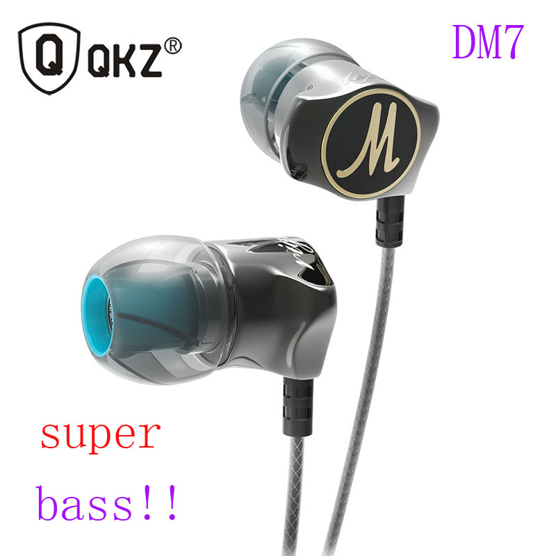 Original QKZ DM7 Mini Special Gold Plated In Ear 3.5mm Sport Super Heavy Bass Stereo Earbuds For All Smart Phone
