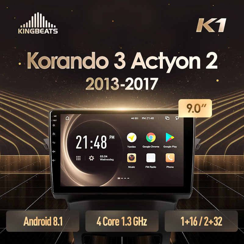 KingBeats Android 8.1 Octa-Core unità di testa 4G in Dash Car Radio Multimedia Video Player di Navigazione GPS Per ssangYong Korando 3 Actyon 2 2013 - 2017 no dvd 2 din Doppio Din Car Stereo Android 2din DDR4 2 + 32G 4 + 64G