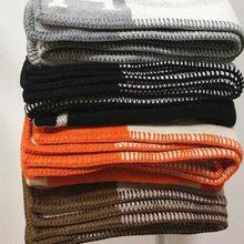 Manta h manta de caxemira crochê lenço de lã macia xale portátil quente sofá cama velo malha lance cobertor 135x170cm