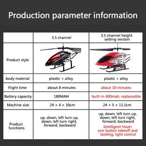 Image 4 - RC Hubschrauber 3,5 CH Radio Control Hubschrauber mit LED Licht Quadcopter Kinder Weihnachten Geschenke Bruchsicher Fliegende Spielzeug Modell
