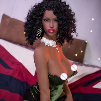 165cm Sexy realistic tpe black sex doll big ass with big boobs for men