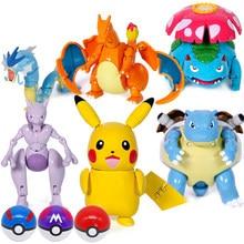 Pokemon brinquedos bola variante brinquedo modelo pikachu jenny tartaruga bolso monstros pokemones figura de ação brinquedo presente para crianças