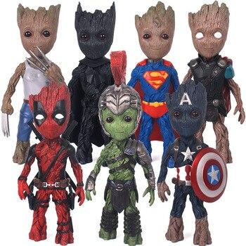 17cm Marvel Hero Groot Action Figure Doll Desktop Decoration Model Avengers Kids Toys Anime Figure figma Gifts for Boys Model