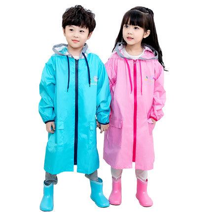 Pink Waterproof Rain Poncho Outdoor Raincoat Kids Space for Schoolbag Children Boy's Yellow Rain Coat Cover Hiking Impermeable