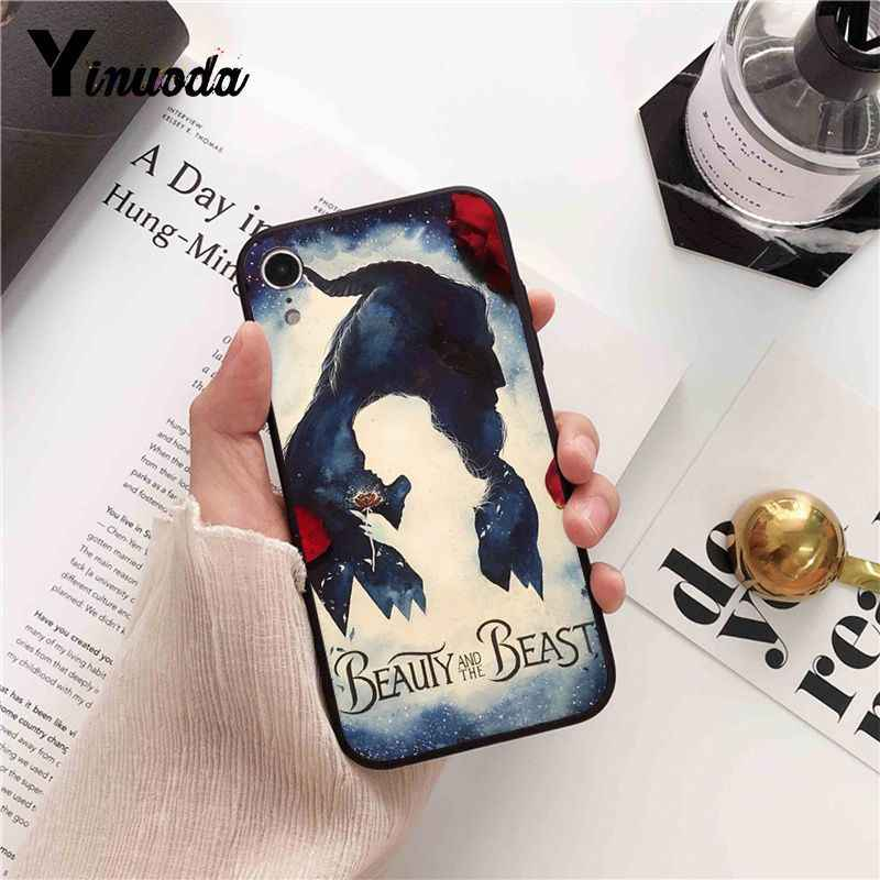 Yinuoda Beauty Beast Rose Princess Art โทรศัพท์กรณีครอบคลุมสำหรับ iPhone 8 7 6 6S 6Plus 5 5S SE XR X XS MAX Coque 11 pro max
