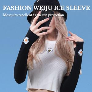 Women Sun Sleeves Ice sleeves Arm Warmers For Sun UV Protection Cooling Sleeves Arm Sleeves for Driving Cycling Golf Dropship