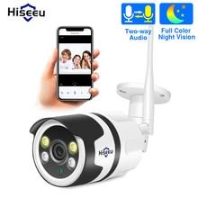 كاميرا Hiseeu مزودة بخاصية Wifi وخاصية IP للأماكن الخارجية 1080P 720P ومضادة للمياه كاميرا أمان لاسلكية مع دائرة تلفزيونية 2.0 ميجابكسل معدنية ذات اتجاهين صوت P2P رصاصة ONVIF