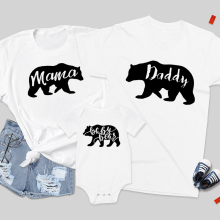Matching Shirts Daddy Baby Family Mama Bear Son And Cute Besties-Set Bff's Children's