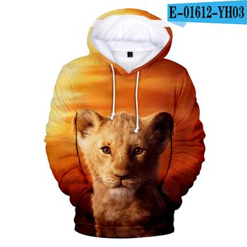 New Arrival król lew 3D bluzy mężczyźni kobiety moda bluza w stylu Harajuku 3D nadruk lew król lew Anime bluza z kapturem swetry Streetwear tanie i dobre opinie darlingoddess Jesień I Zima Na co dzień Podróż CN (pochodzenie) Pełne COTTON Modalne Drukuj REGULAR Brak STANDARD NONE