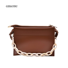 Female Diagonal Bag Compartment Female Fashion Shoulder Bag Solid Color Youth Daily Bag Portable Female Clutch brown leather look solid color clutch bag