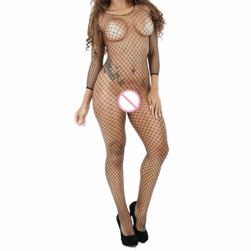 Mulheres sexy babydoll bodysuits roupa interior senhoras lingerie erótica lingerie feminina sexy fishnet crotchless nightwear oco para fora #32