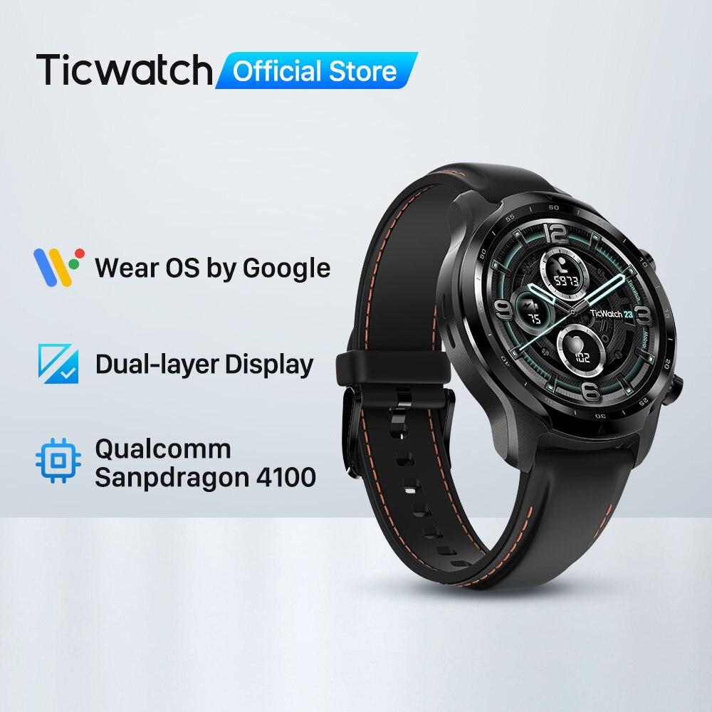 Relógio inteligente para Men of TicWatch Pro 3 GPS Wear OS by Google Tela Dupla Longa Duração da Bateria Modelo Emblemático, Novo Lançado em 2020