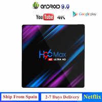 Original H96 max Android 9.0 TV BOX Smart 4K RK3318 Quad-Core 4GB 32GB H.265 WiFi Media Player Netflix Set top box IPTV