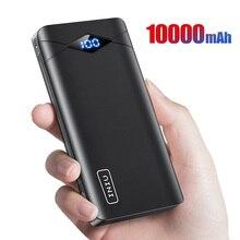 INIU Batería Externa de 10000mAh con pantalla LED, cargador portátil USB de 3A Dual, para iPhone 8 y Xiaomi