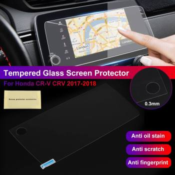 Car Display GPS Navigation Screen Protector 9H 0.3mm Tempered Glass For Honda forCR-V for CRV 2017 2018 27x12.5cm image