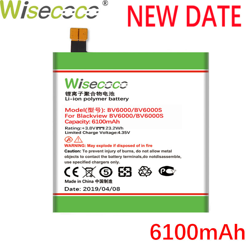 Wisecoco Production-Battery BV6000 6100mah Ce For Blackview High-Quality Replace