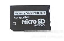 1000 sztuk wsparcie Adapter karty pamięci Micro SD na pendrive Adapter na PSP pamięć Micro SD pendrive Pro Duo tanie tanio GRWIBEOU Brak Memory card adapter