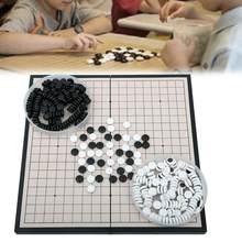 Jogo magnético portátil ir conjunto de pedras de plástico magnético go board para o curso de festa clássico chinês jogo de tabuleiro estratégia