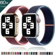 Ремешок нейлоновый для Apple Watch band 44 мм 42 мм 40 мм 38 мм, спортивный браслет для смарт-часов, iWatch Series 4 5 SE 6