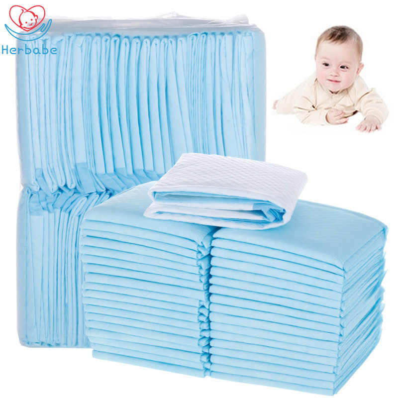Herbabe 10/100pc Disposable Baby Diaper Changing Mat for Adult Children or Pets Waterproof Newborn Changing Pads Diaper Mattress