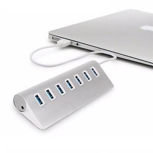 Image 5 - Usb 3.0 כבל Usb Hub 3.0 Usb ספליטר 7 יציאת Usb ספליטר מתאם USB3.0 הארכת כבל עבור Macbook מחשב נייד כוננים קשיחים
