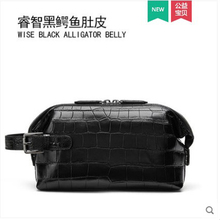 gete Simple man's handbag with real crocodile skin grasp bag with large capacity crocodile skin belly bag for men clutch bag недорого