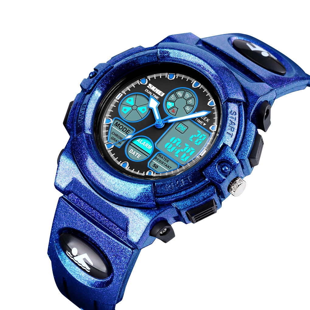 SKMEI Military Sport Watch For Kids 50M Waterproof Waterproof Dual LED Display Watch Children Наручные часы Montre Reloj Hombre