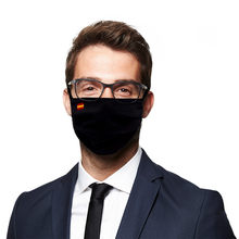 Masque de Protection en tissu filtrant, drapeau d'espagne, réutilisable, lavable, unisexe
