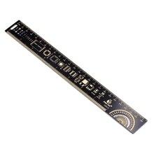 25 см линейка электронщика для электронных инженеров измерительный инструмент резисторный конденсатор чип IC SMD диодный транзистор PCB контрольная линейка