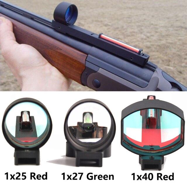 1x2 5/1x2 7/1x40 الألياف الأحمر/الأخضر نقطة النطاق البصري المجسم البصر صالح بندقية الضلع السكك الحديدية التكتيكية الصيد اطلاق النار