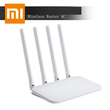 Original Xiaomi Mi WIFI Router 4C 64 RAM 300Mbps 2.4G 802.11 b/g/n 4 Antennas Band Wireless Routers WiFi Repeater APP Control original xiaomi mi wifi router 3c english version 2 4g 300mbps smart app control band wireless routers repetidor 64 ram 802 11n