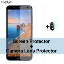 Xiaomi Redmi7Aガラス用2個スクリーンプロテクター9A9C NFC 9 8 8A 6 6A Redmi7A用強化ガラス保護電話カメラフィルム