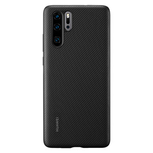 Image 4 - Huawei P30 Case From Huawei Official Original Leather Protecive Cover Carbon / Canvas Fiber Business Style Huawei P30 case