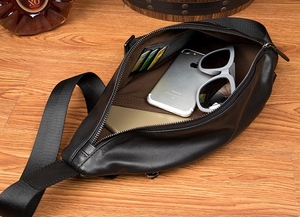Image 5 - AETOO Mens chest bag leather Messenger bag casual mens top layer leather shoulder bag chest bag