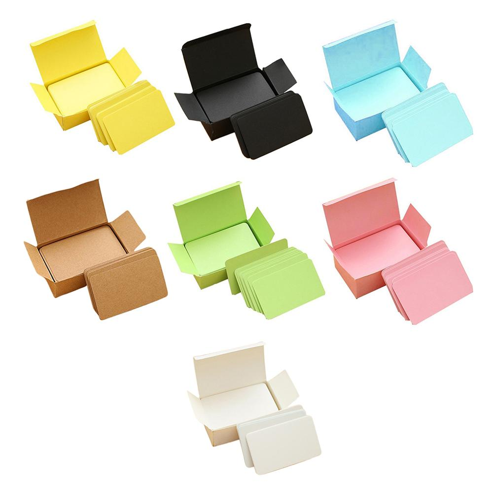 100 Pieces Brown Cards White Blank Card Christmas Valentine's Day DIY Paper Box M17F