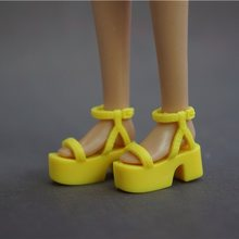 Original 1 pair for Barbie Doll shoes bjd 1/6 Fashion Sneaker fantezi Doll Sandals shoes Flat Boots kawaii accessories women(China)