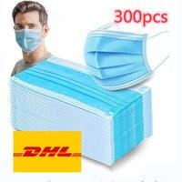 DHL masks300/500/800/1000pcs Disposable Protective Mask 3 Layers Dustproof Facial Protective Cover Masks anti virus Mask