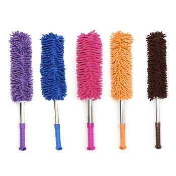 Handheld Microfiber Duster Scalable Soft With Super Vacuuming Superfine Fiber Dust Water Removal Duster Lightweight