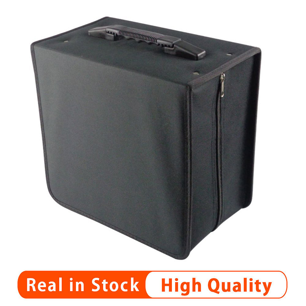 High Quality 500 Disc Oxford Cloth Non-woven Fabrics <font><b>CD</b></font> Box DVD Storage Case Carrying <font><b>Bag</b></font> <font><b>Organizer</b></font> Holder With Solid Zipper image