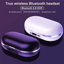 אלחוטי tws Bluetooth אוזניות רב פונקציה סט עם 50mAh שחור/לבן טעינת תא 2600mAh סטריאו אוזניות מגע