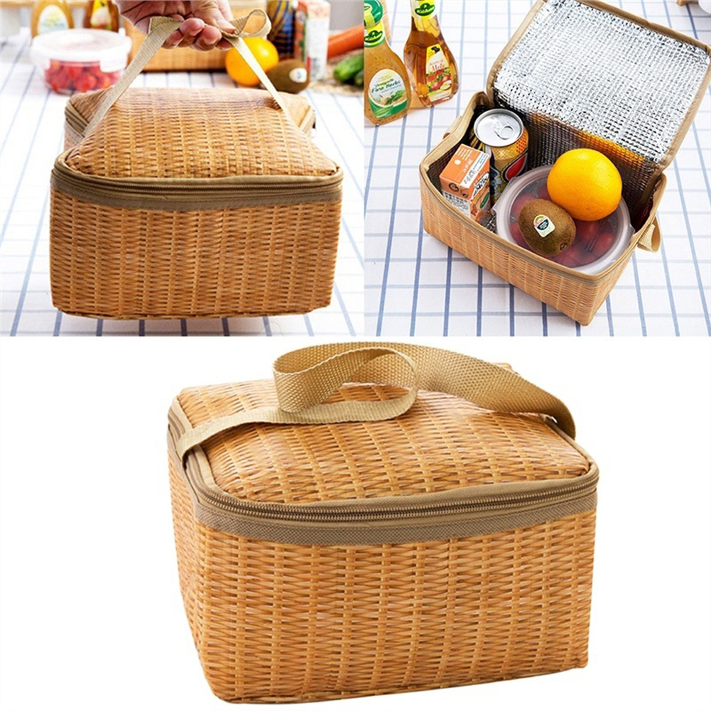 Practical Lunch Bags Portable Insulated For Picnic Container Food Picnic Bag Packet Thermal Cooler Lunch Box Tote Storage Bag