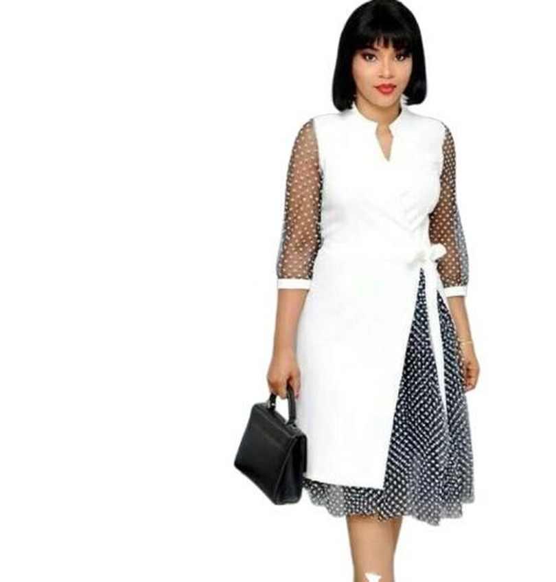 2019 nuovo elegent stile di modo africano di stampa delle donne più il vestito da formato L-4XL