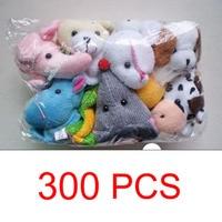 300 Pcs Cartoon Animal Hand Toy Finger Puppet Plush Toys For Children's Favor Dolls Gift