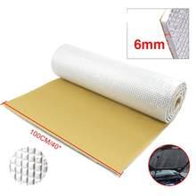 6mm 236mil foglio di alluminio spesso + silenziatore cotone Auto portellone posteriore isolamento acustico fonoassorbente tappetino insonorizzato
